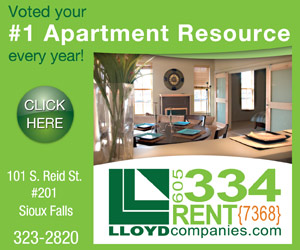 Voted your #1 Apartment Resource every year! 101 S. Reid St, #201, Sioux Falls, 323-2820. LLOYDcompanies.com, 605-334-RENT (7368). Click Here.