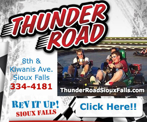Thunder Road. 8th & Kiwanis Ave, Sioux Falls. 334-4181. Rev It Up! Sioux Falls. thunderroad.info. Click Here!!