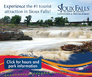 Lights, Camera, Attraction! Experience the #1 tourist attraction in Sioux Falls! Click for hours and park information. Sioux Falls Convention and Visitor's Bureau. The Heart of America!