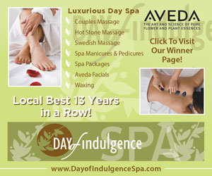 Luxurious Day Spa. Couples massage. Hot stone massage. Spa pedicures. Spa manicures. Spa packages/facials. Local Best 9 Years in a Row! Day of Indulgence Spa. www.DayofIndulgenceSpa.com. Click to visit our winner page!