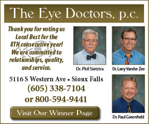 The Eye Doctors, pc. Thank you for voting us Local Best for the 8th consecutive year! We are committed to relationships, quality, and service. Dr. Phil Sietstra, Dr. Larry Vander Zee, Dr. Paul Greenfield, Visit Our Winner Page.
