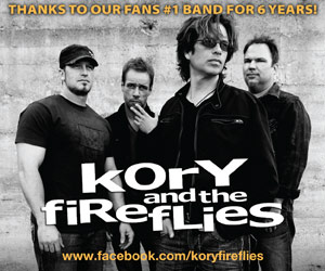 Thanks to our fans #1 Band for 7 Years! Kory and the Fireflies - Est. 1994. www.facebook.com/koryfireflies