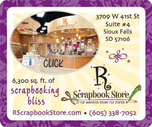 R Scrapbook Store - Let Your Imagination Become Your Creation. 3709 W 41st St, Suite #4, Sioux Falls, SD 57106. 6,300 sq. ft. of scrapbooking bliss. RScrapbookStore.com, 605-338-7052. Click.