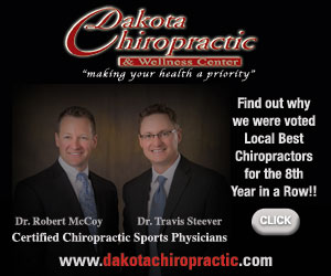 Dakota Chiropractic & Wellness Center. Making your health a priority. Find out why we were voted your #1 Local Best Chiropractors for the Third Year in a Row!! Click. Dr. Travis Steever, Dr. Robert McCoy. Certified Chiropractic Sports Physicians. www.dakotachiropractic.com