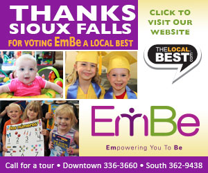 Thanks Sioux Falls for voting EmBe a Local Best. Click to visit our winner's page! thelocalbest.com. Stop by or call to schedule a tour! EmBe - Empowering You To Be