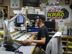 KRRO Radio DJ at Work