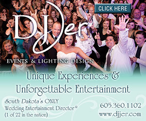 DJ Jer Events & Lighting Design. South Dakota's ONLY Wedding Entertainment Director (TM), 1 of 22 in the nation. Unique Experiences & Unforgettable Entertainment. 605-360-1102. www.djjer.com. Click Here.