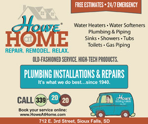 Howe Heating & Plumbing Inc. Since 1940. Old-fashioned service. High-tech products. Heating & Cooling, It's what we do best...since 1940. Furnace, AC, Heat Pump, Geo Thermal, Ductwork, Humidifiers, Air Purification. Free Estimates, 24/7 Emergency. Call 605-339-2020. 712 E. 3rd Street, Sioux Falls. Book Your Service Online. www.howeinc.com