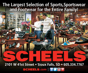 The Largest Selection of Sports, Sportswear and Footwear for the Entire Family! SCHEELS - 2101 W 41st Street, Sioux Falls, SD - 605.334.7767.