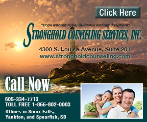 Stronghold Counseling Services, Inc. Hope without Hype, Guidance without Judgement. 4300 S Louise Avenue, Suite 201. www.strongholdcounseling.com. Call Now. 605-334-7713. Toll Free 1-866-802-0003. We also have an office in Yankton, SD. Click Here.