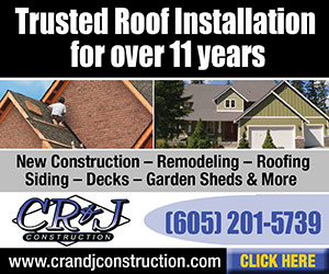 Trusted Roof Installation for over 11 years. CR&J Construction. New Construction, Remodeling, Roofing, Siding, Decks, Garden Sheds, & More. www.cranjconstruction.com. Ph: 605-201-5739. Click Here.