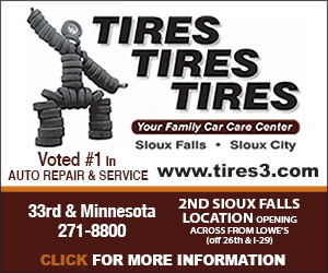 Tires Tires Tires. Your Family Car Care Center. Sioux Falls, Sioux City. www.tires3.com. Local Best Auto Service & Repair. 33rd & Minnesota, 271-8800. Click For More Information.