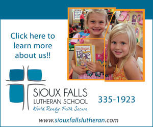 Click here to learn more about us!! Sioux Falls Lutheran School. World Ready. Faith Secure. 335-1923. www.siouxfallslutheran.com