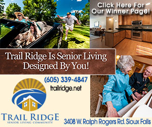 Trail Ridge is Senior Living Designed By You! Opening new trails in 2014! Trail Ridge Retirement Community. (605) 339-4847. 3408 W. Ralph Rogers Rd. Click Here For Our Winner Page!