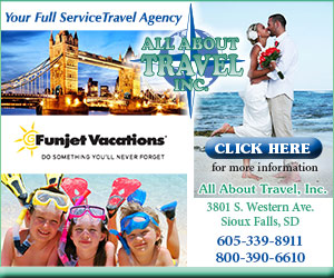 Your Full Service Travel Agency - All About Travel Inc. Funjet Vacations - Do Something You'll Never Forget. 3801 S. Western Ave., Ste 103, Sioux Falls, SD 605-339-8911, 800-390-6610. Click here for more information.