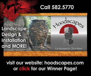 Hoodscapes. Landscapes by Chris Hood. Landscape Design & Installation and MORE! Call 582-5770. Visit our website: hoodscapes.com or click for our Winner Page!