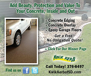 Add Beauty, Protection and Value to Your Concrete, Inside and Out. Concrete Edging, Concrete Overlay, Epoxy Garage Floors. Get a Free, No Obligation Quote! Click for our winner page. Kwik Kerb, Call Today! 376-8497. Find us on Facebook and Twitter.