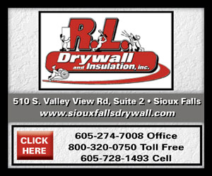 RL Drywall and Insulation Inc. 510 S Valley Rd, Suite 2, Sioux Falls. www.siouxfallsdrywall.com 605-274-7008 Office. 800-320-0750 Toll Free. 605-728-1493 Cell. Click Here.
