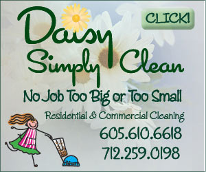 Daisy Simply Clean. No Job Too Big or Too Small - Residential & Commercial Cleaning. 605.610.6618, 712.259.0198. Click!