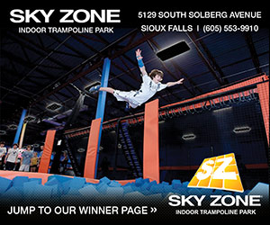 Sky Zone Indoor Trampoline Park - 5129 South Solberg Avenue, Sioux Falls, (605) 553-9910. Jump to Our Winner Page