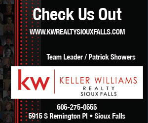 Check Us Out. www.KWRealtySiouxFalls.com. Team Leader / Patrick Showers. kw - Keller Williams Realty, Sioux Falls, 605-275-0555. 5915 S Remington Pl - Sioux Falls.
