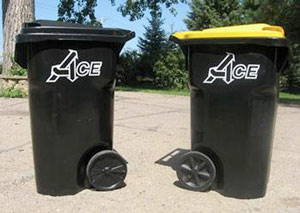 Ace Garbage trash and recycling containers