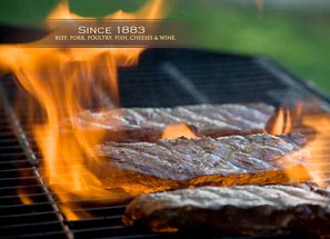 Since 1883 - Beef, pork, poultry, fish, cheeses and wine