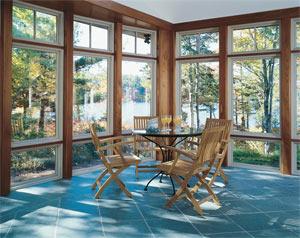Sunroom with Pella windows