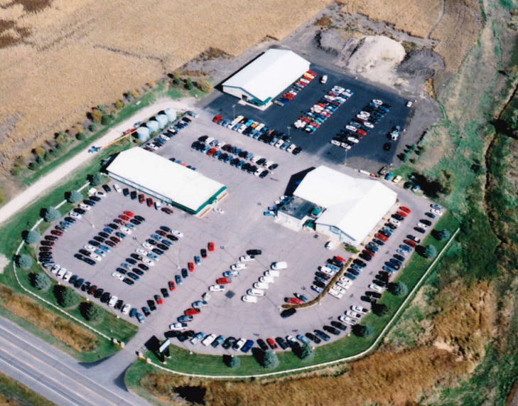 Aerial view of Frankman Motor Company