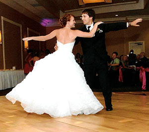 Bride and groom learning to dance at Date Night Dance Company